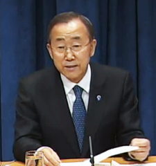 Ban Ki-Moon announces his bid for a second term
