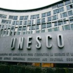 unesco sign and  building