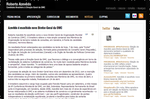 Robert Azevedo's WTO campaign website