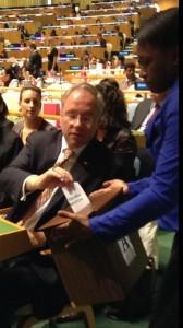 Netherlands Ambassador Karel van Oosterom voting on HRC candidates